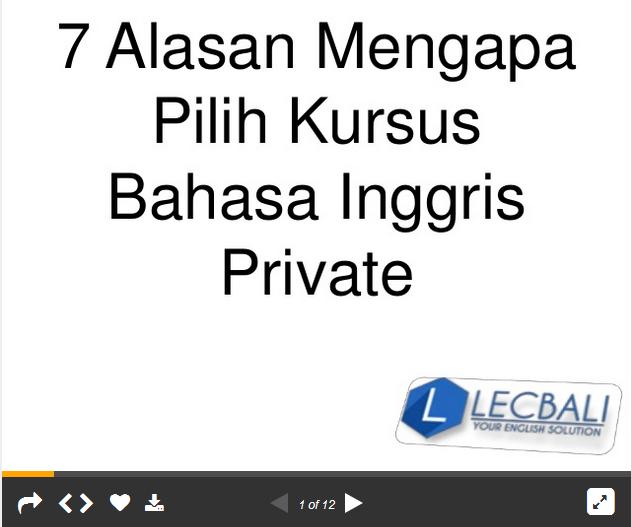 kursus bahasa inggris di bali, kursus bahasa inggris private di denpasar bali, kursus bahasa inggris private, alasan kursus private, mengapa kursus private