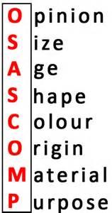 osascomp, cara menyusun adjective, private bahasa inggris di bali, kursus bahasa inggris di bali denpasar