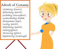 adverb of certain, kursus bahasa inggris di bali, les inggris di bali, kursus bahasa inggris privat denpasar, kursus bahasa inggris