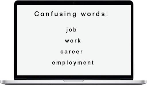 perbedaan job, accupation,career, work
