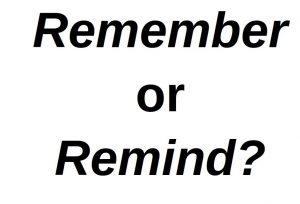 remember atau remind